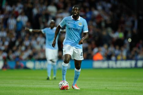 Yaya Toure during the Barclays Premier League match between West Bromwich Albion and Manchester City